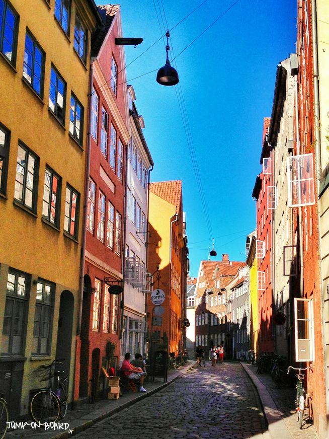 colourful street in Copenhagen