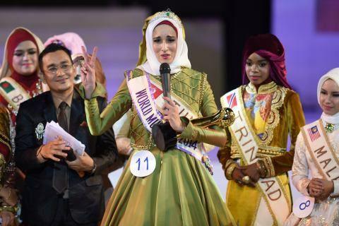n concurso de belleza diferente: eligen a la musulmana más bella del mundo Con esa sonrisa y alegría, Fatma Ben Guefrache, una joven tunecina .