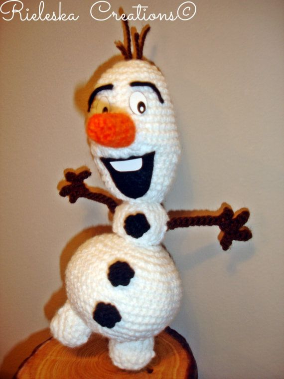 Crochet pattern pdf amigurumi- Olaf From Frozen size : 20 cm , 8 inches  Price is for the PATTERN only, not the finished product.  There is no shipping