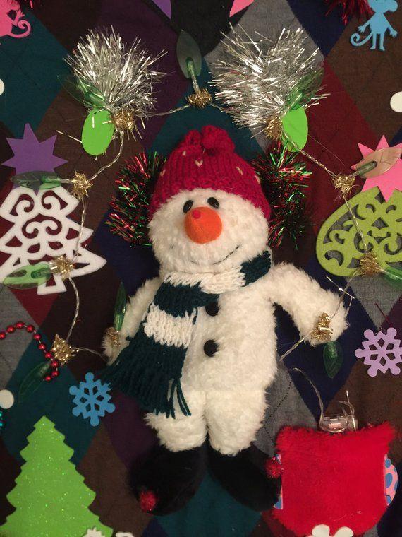 Deb Mans Ugly Christmas Sweater Mans 3xlt Snowman Light Up Award