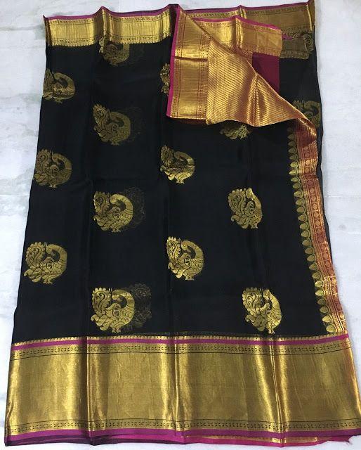 Exclusive Pure Kanchi Organza Sarees | Buy Onine Organza Sarees With Low Price | Organza Silk Sarees | Elegant Fashion Wear