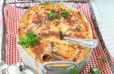 Kycklinglasagne med bacon och fetaost