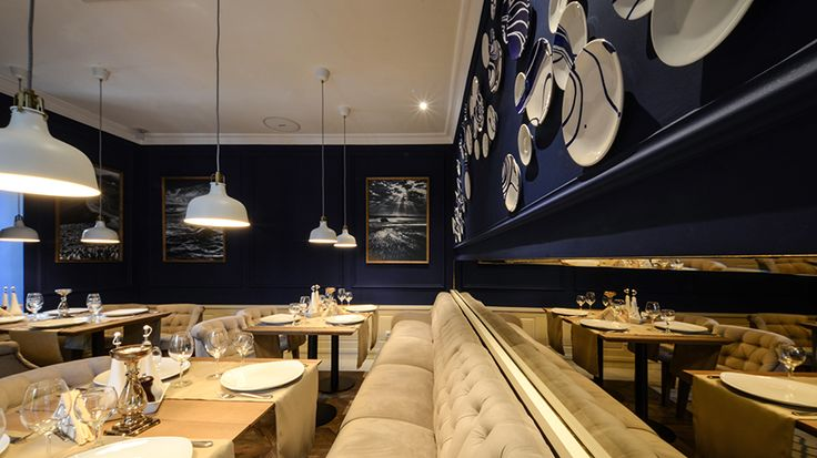 #restaurantandbardesign #architecture #restaurantdesign #blue #ceramic #restaurant #mythos #craiova #romania #design #yellowoffice  http://yellowoffice.ro/projects/mythos