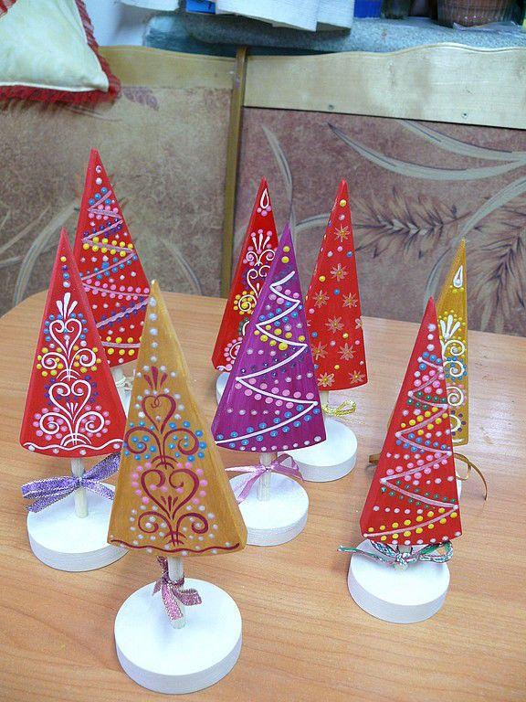 Купить Ёлочка декоративная. - деревянная игрушка, елочка, новогодняя игрушка, новогодний сувенир, дерево, акрил