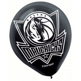Add some Dallas Mavericks to your March madness party./ Wally's Party Factory #Dallas #mavericks #latex #balloons