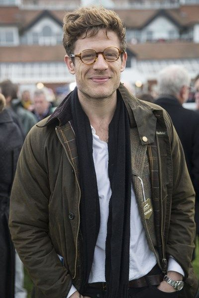 James Norton in a Barbour to watch horse racing