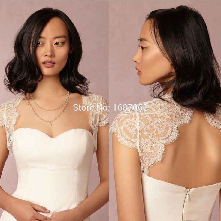 2015 Lace Bridal Jackets Wraps Bolero Lace Wedding Jackets Backless Cap Sleeves Custom Made Bolero Jackets Wedding Capes-in Wedding Jackets / Wrap from Weddings & Events on Aliexpress.com | Alibaba Group