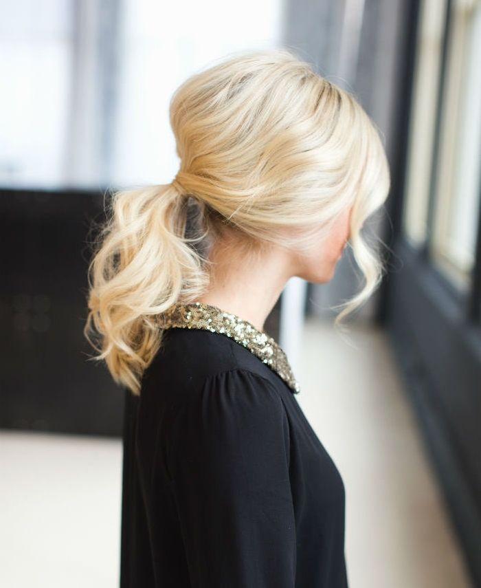1001 Ideen Fur Frisuren Fur Mittellange Haare Inklusive Diy Anleitungen Frisur Hellblonde Haare Frisuren Mittellanges Haar Locken Und Pferdeschwanz Fr