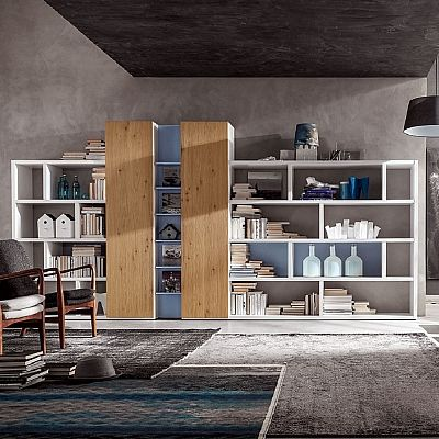 Big and beautiful 'Kane' Bookshelf. Wooden contemporary and modern design by My Italian Living