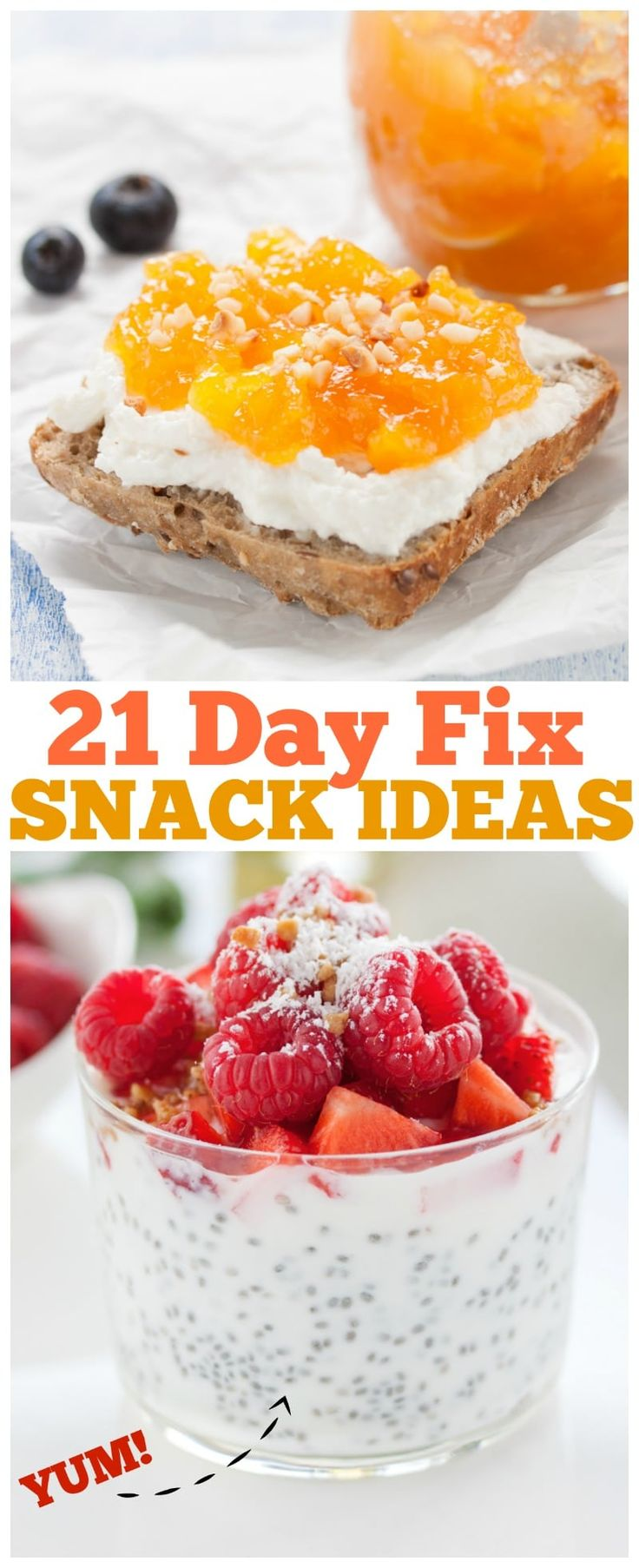 21-Day Fix Snack Recipes, Get a snack for Every work day of the month with these 20 21-day fix recipe ideas