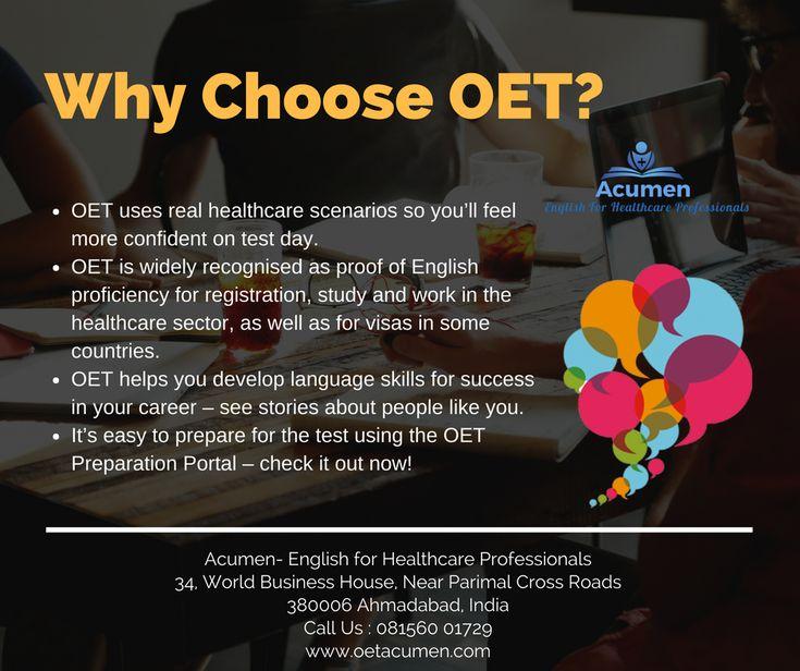 Why choose #OET?