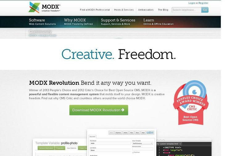 ModX  For More: http://www.themangomedia.com/blog/selecting-right-cms-website-for-your-business-with-industry-trends/