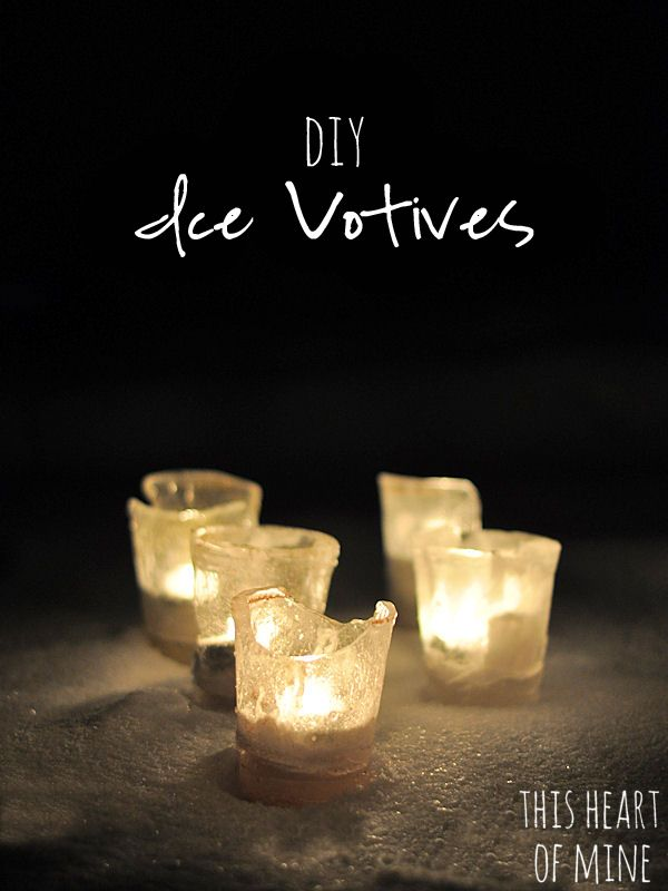 Ice Votives 6.1    Seriously?!  These ice votives would be amazing for Christmas!...and New Year's...and beyond!