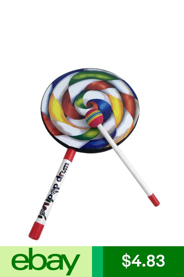 Lollipops Pattern Colorful Drum Percussion Instrument For Children Kinderga N8E9