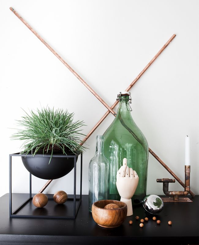 Daniella Witte: (my style) I STILL LIFEPlants Decor, Decor Ideas, Plants Stands, Daniella Witte, Style, Tabletop Decor, Interiors Copper, Black, Interiors Decor