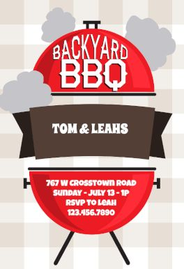 Backyard Bbq Printable Invitation Template. Customize, Add Text And Photos.  Print, Download
