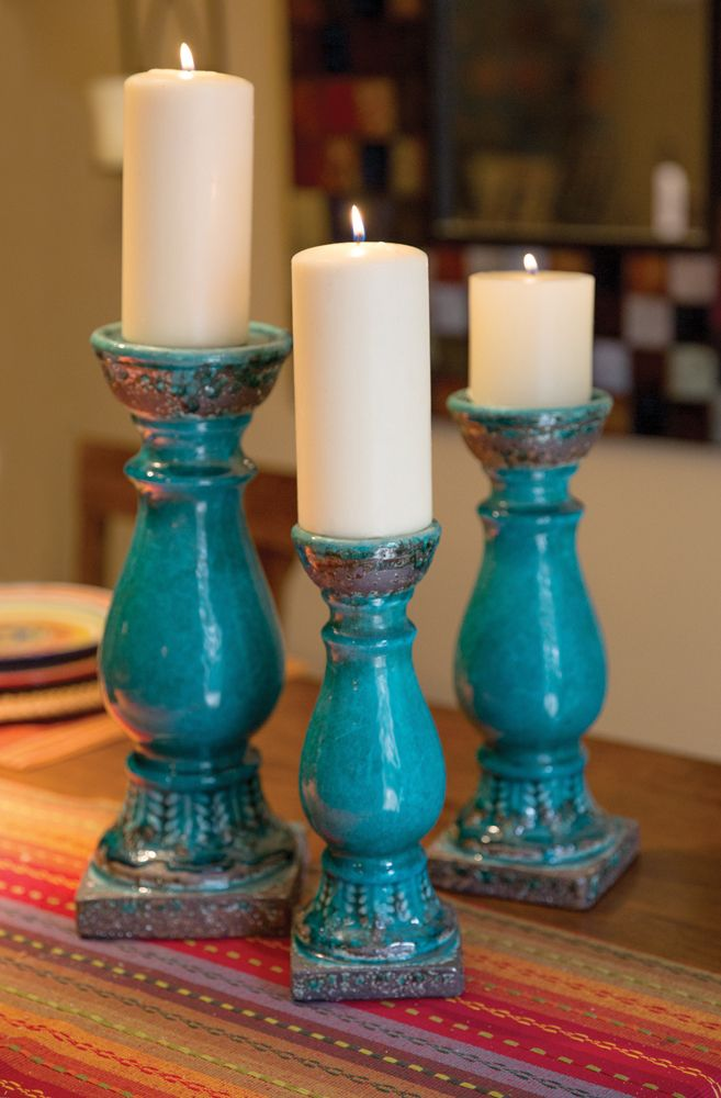 Pin by Beautyanhomedecor2013 on Home Decor  Pillar candles Ceramic candle holders Pillar