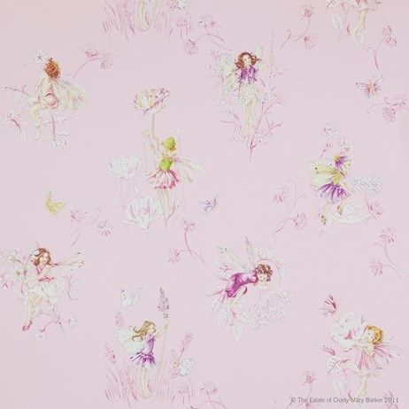 Selmas rum? Jane Churchill Meadow Flower Fairies Pink