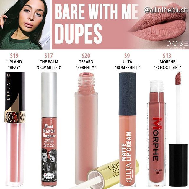 WEBSTA @ allintheblush - BARE WITH ME DUPES  Let me know what @doseofcolors shades you want to see duped next!  More details