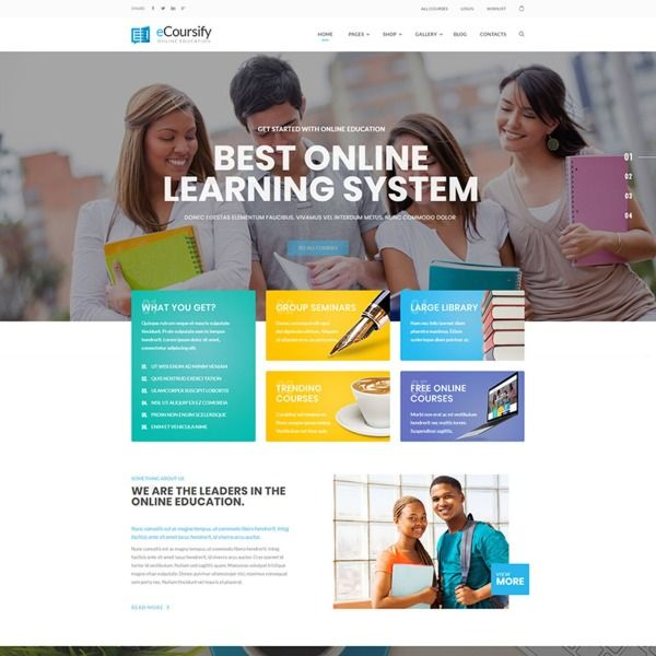 Ecoursify Lms For Online Courses Wordpress Theme 66906 Learning Website Design Online Education Online Courses