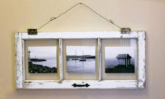 Zamiast wyrzucać stare okna, można udekorować nimi dom.  Podczas remontu stare drewniane okna lądują w śmietniku. To prawda, że przeważnie nie nadają się do renowacji i ich miejsce prawie na pewno zajmą okna aluminiowe albo PCV. Jednak te stare są cząsteczką historii domu (a nieraz i rodziny).
