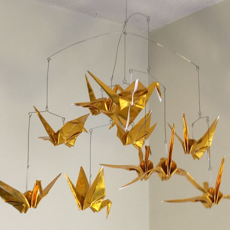 Custom Origami Crane Mobile Made to Order | Diy arts and ...