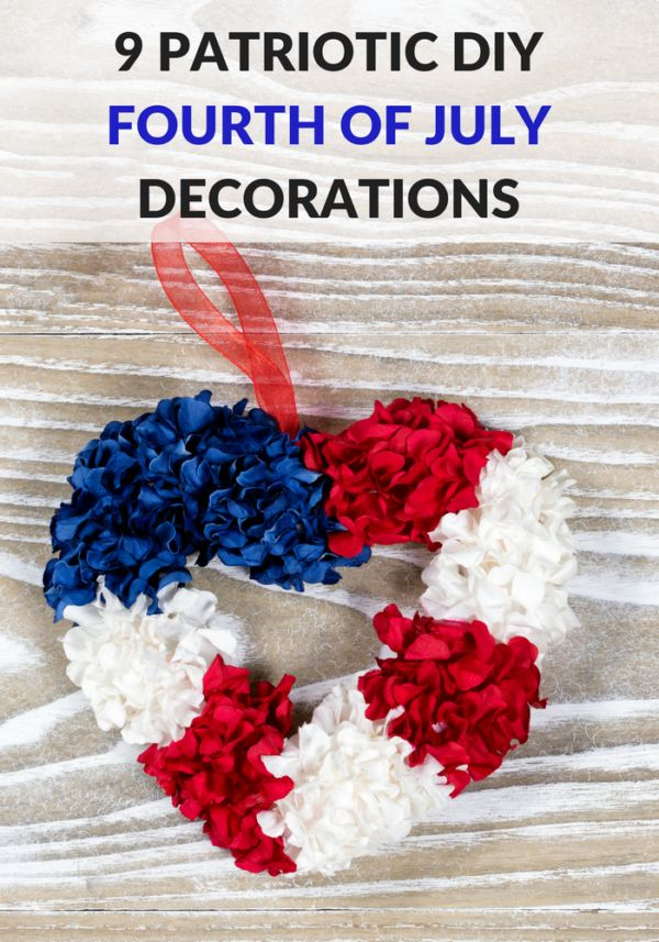 Make your home patriotic with our list of simple DIY Fourth Of July decorations! These easy crafts will add a patriotic touch of red white and blue! Check out these great ideas!