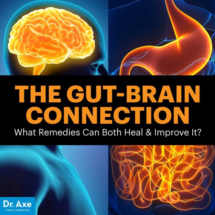 Gut-brain connection - Dr. Axe http://www.DrAxe.com #health #holistic #natural