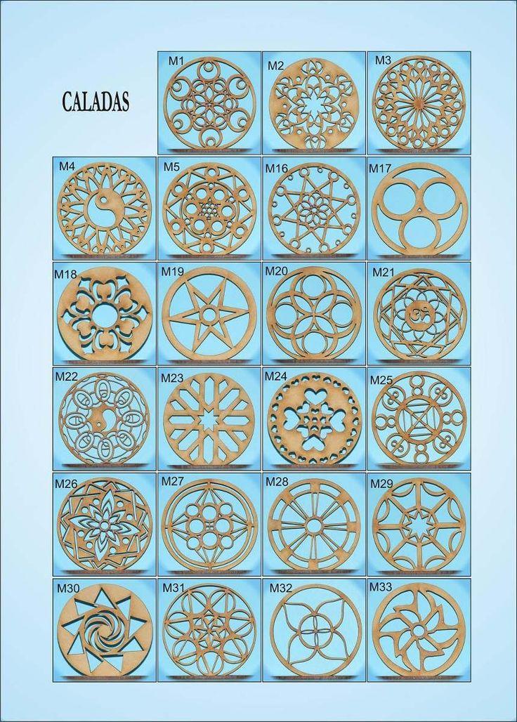 Resultado de imagen para mandalas calados en madera