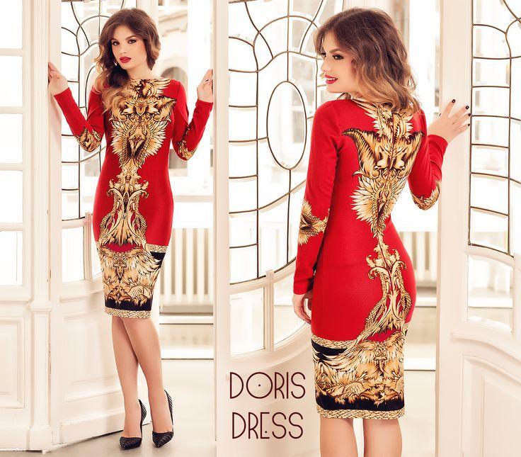 Midi red dress with fall print: https://missgrey.org/en/dresses/rochie-doris-rosie/445?utm_campaign=noiembrie&utm_medium=rochie_doris_rosie&utm_source=pinterest_produs