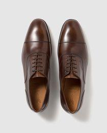 Zapatos de vestir de hombre Yanko en piel de color marrón  5e21ee82cb0