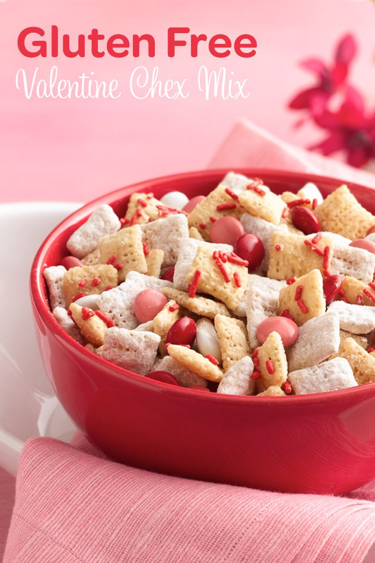 What is not to love about this Gluten Free Valentine Chex Mix? You could make it for a loved one but we certainly won;t judge if you make it for yourself!