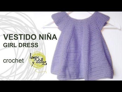 ▶ Tutorial Vestido Niña Bebé Crochet Baby Girl Dress (English Subtitles) - YouTube