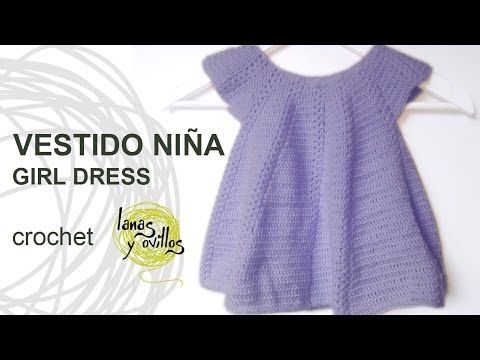 ▶ Tutorial Vestido Niña Bebé Crochet o Ganchillo Baby Girl Dress (English Subtitles) - YouTube