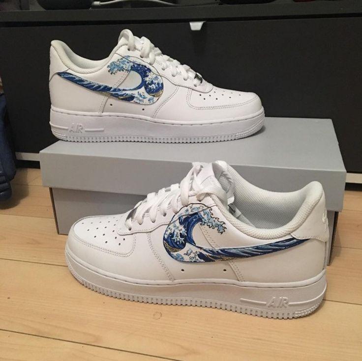 Custom Nike Air Force 1 great wave of Kanagawa Hokusai