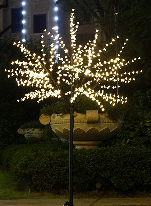 Amazon Com Bolylight Led Cherry Blossom Tree 8ft 600l Led Decoration Lighted Tree For Bedroom Par Outdoor Christmas Lights Christmas House Lights Tree Bedroom
