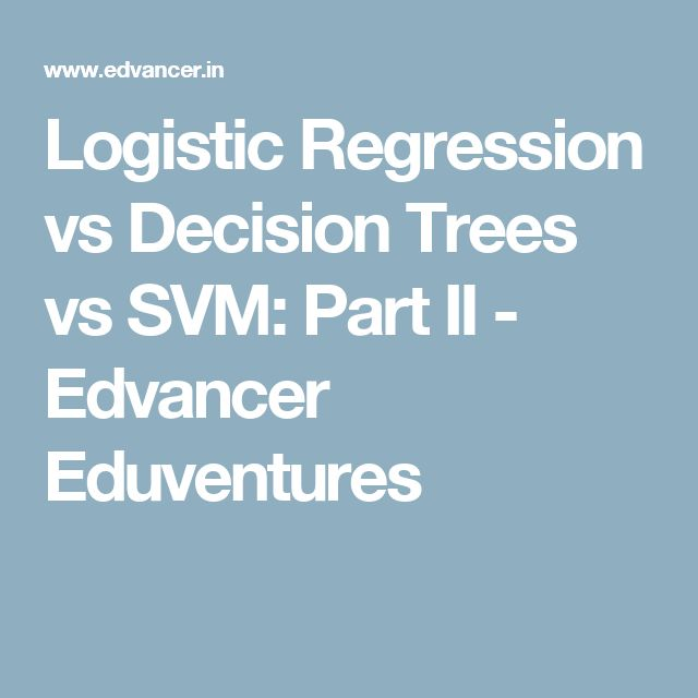 Logistic Regression vs Decision Trees vs SVM: Part II -  Edvancer Eduventures