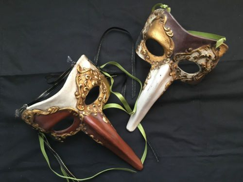 Venetian-Long-Nose-Masquerade-Masks-Home-Decor-x-2-pcs-M12