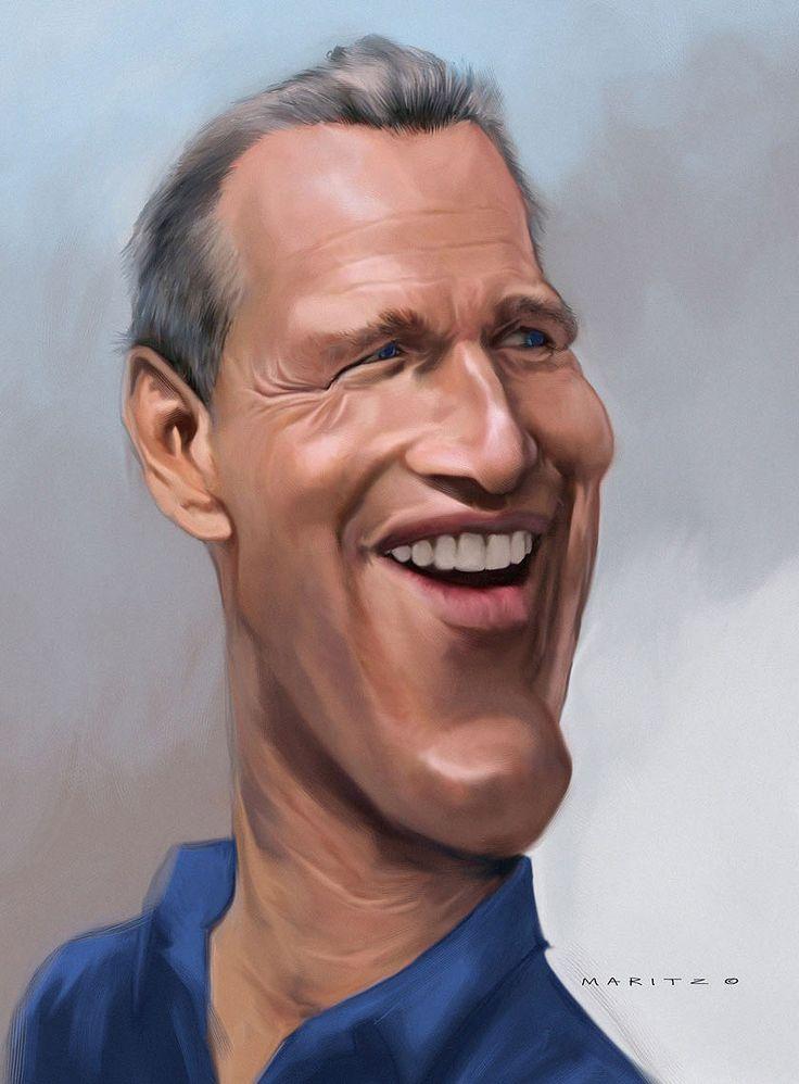 Caricatura de Paul Newman.