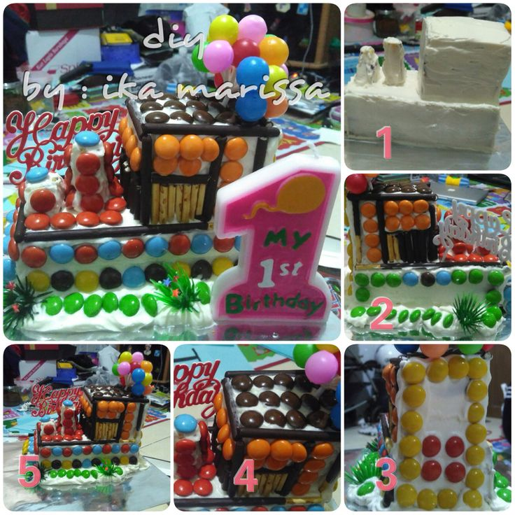 diy birthday cake decoration for my second son 1st B'day