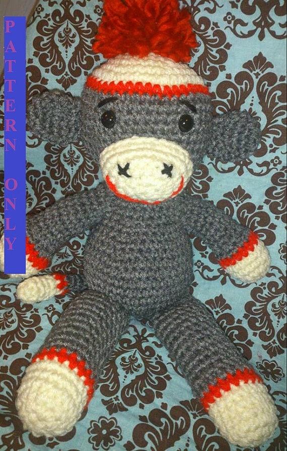 Amigurumi Sock Monkey Crochet Pattern : 17 Best images about Sock Monkeys