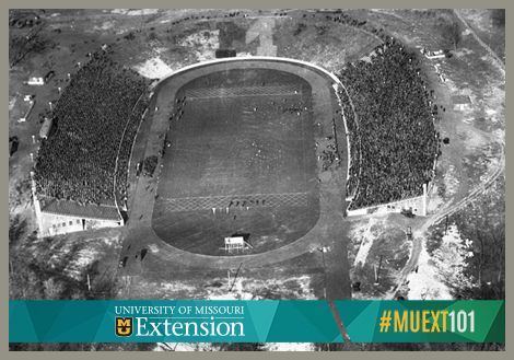 To celebrate a rare Thursday night football game, we're throwing back to a photo from a 1928 game against the University of Kansas. MU beat its former foe 25-6 in that game. Don't have tickets for tonight's football game? That's OK, you can still tailgate at home with some healthier recipes from MU Extension. #MUEXT101 #TBT