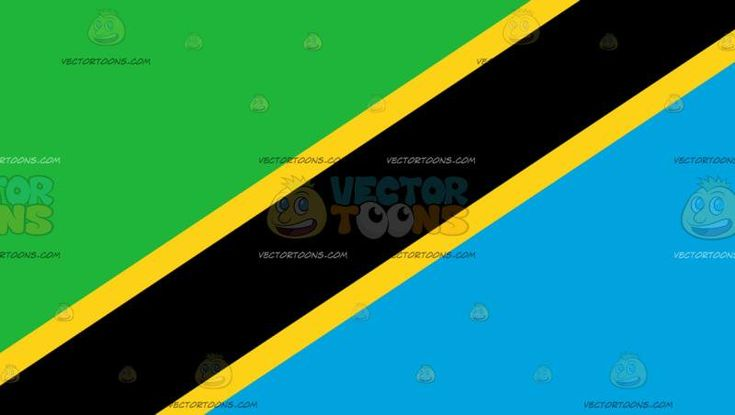 Flag Of Tanzania :   The national flag of Tanzania with triangles of green and blue separated by a black diagonal stripe with yellow borders