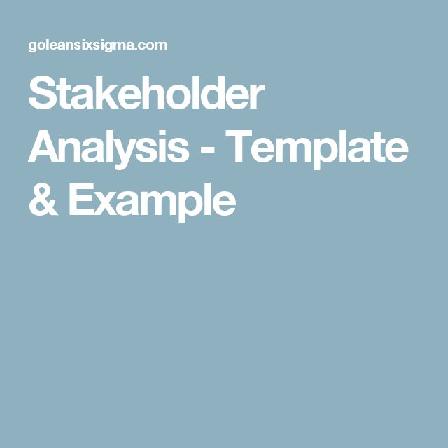 Best 25+ Stakeholder Analysis Ideas On Pinterest | Stakeholder