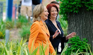 Julia Gillard says online abuse deters women from political careers