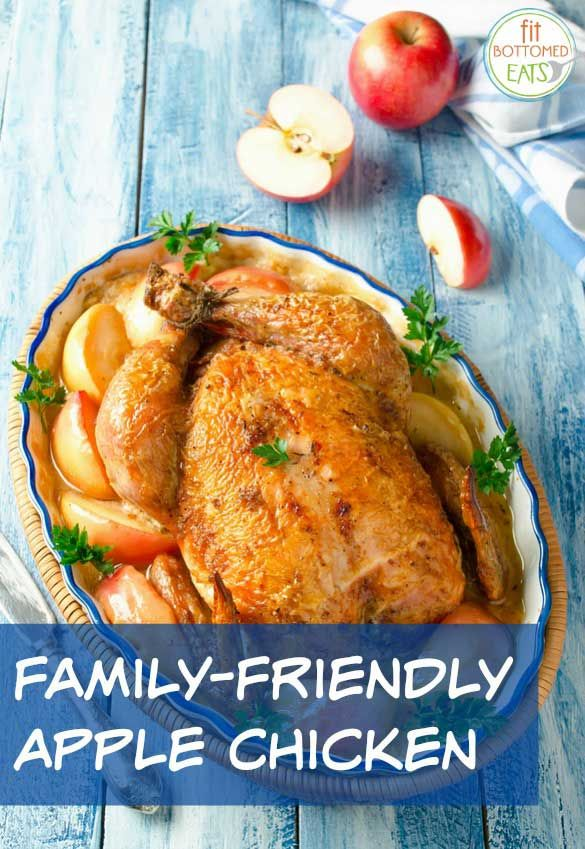 Looking for a family-friendly dish? This simple baked apple chicken recipe is a guaranteed hit! | Fit Bottomed Eats