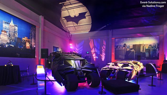 A Batman Gobo Super Fun Superhero Event Theme