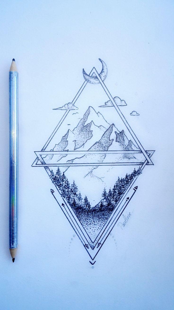 Drawing #PaulineDUFLOT #tattoo #tatoo #montagne #mountain – # – Collection –