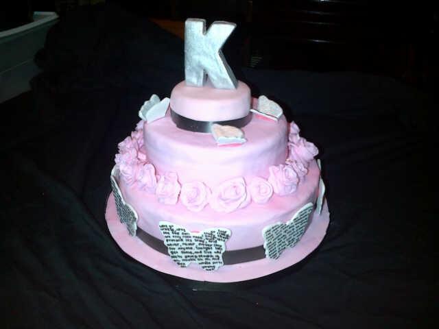 """Kitty's 21st birthday cake. Chocolate and """"pink"""" velvet <3"""