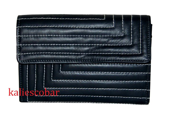 Women Leather Wallet Cash Card Holder Clutch Bag Hand Bag New Blue Wallet  #Handmade #MessengerCrossBody